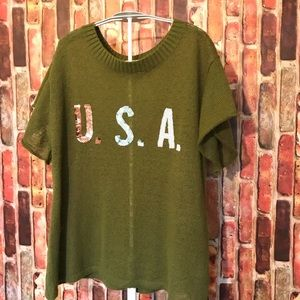 Wildfox july 4  U.S.A sequins -- White Label RARE